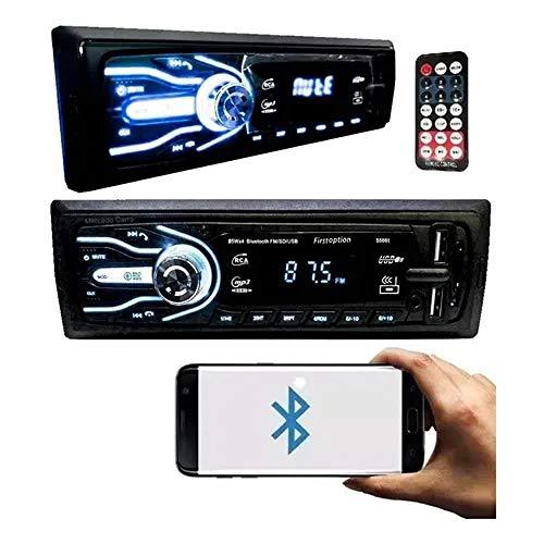 Som Automotivo Com Bluetooth Pen Drive 2x Usb Sd Card 7 Cores Auto Rádio Mp3 Carro