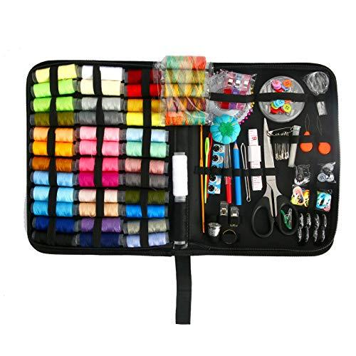 NXACETN 226 unids/set 42 colores portátil Kit de costura multicolor hilo botón cinta marcar hebillas srorage bolsa reparacion camisas DIY ropa arte reparación kits herramientas