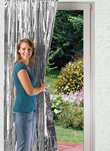 WENKO Isolier-Schutz, 2er Set Isolierfolie für Fensterscheiben Alu Isolierfolie Isolierfolien Fenster Isolierfolien Kälteschutz Kälteschutzfolien für Fenster Wärmedämmung Fenster Folie