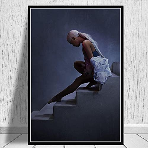 Yiwuyishi Ariana Big Music Singer Posters and Canvas Prints Painting Wall Pictures For Living Room Vintage Home Decor 50x70cm(19.68x27.55 in) P-938