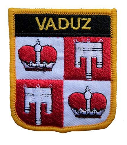 1000 Flaggen Vaduz Liechtenstein Schild bestickt Patch Badge