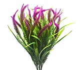 Plantes artificielles, Fleurs, 4pcs Simili Plastique Setaria arbustes de Simulation Plantes buissons d'intérieur extérieur Maison Jardin Bureau Mariage Décor (Rouge Setaria)