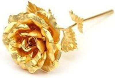 VIKAS GIFT GALLERY Artificial Rose And Box (Gold)