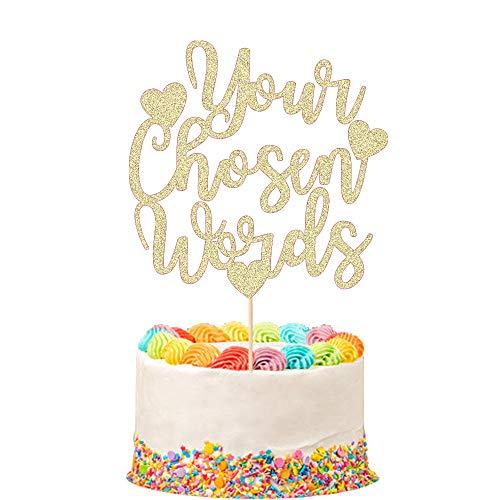 Size 12cm x 13.5cm Mr /& Mrs Gold glitter cake topper