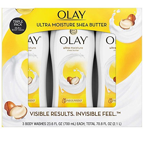 Olay Ultra Moisture Body Wash With Shea Butter, 23.6 Fl Oz X 3 Pack - Total...