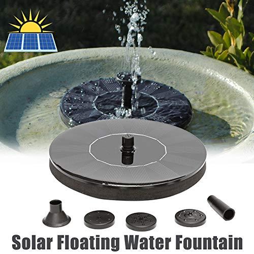 SDGDFXCHN Home-Style Solarbrunnen, Solarbrunnenpumpe Freistehende tragbare schwimmende Solarbrunnenpumpe, freistehende 1,4W Vogelbad Brunnen-schwarz