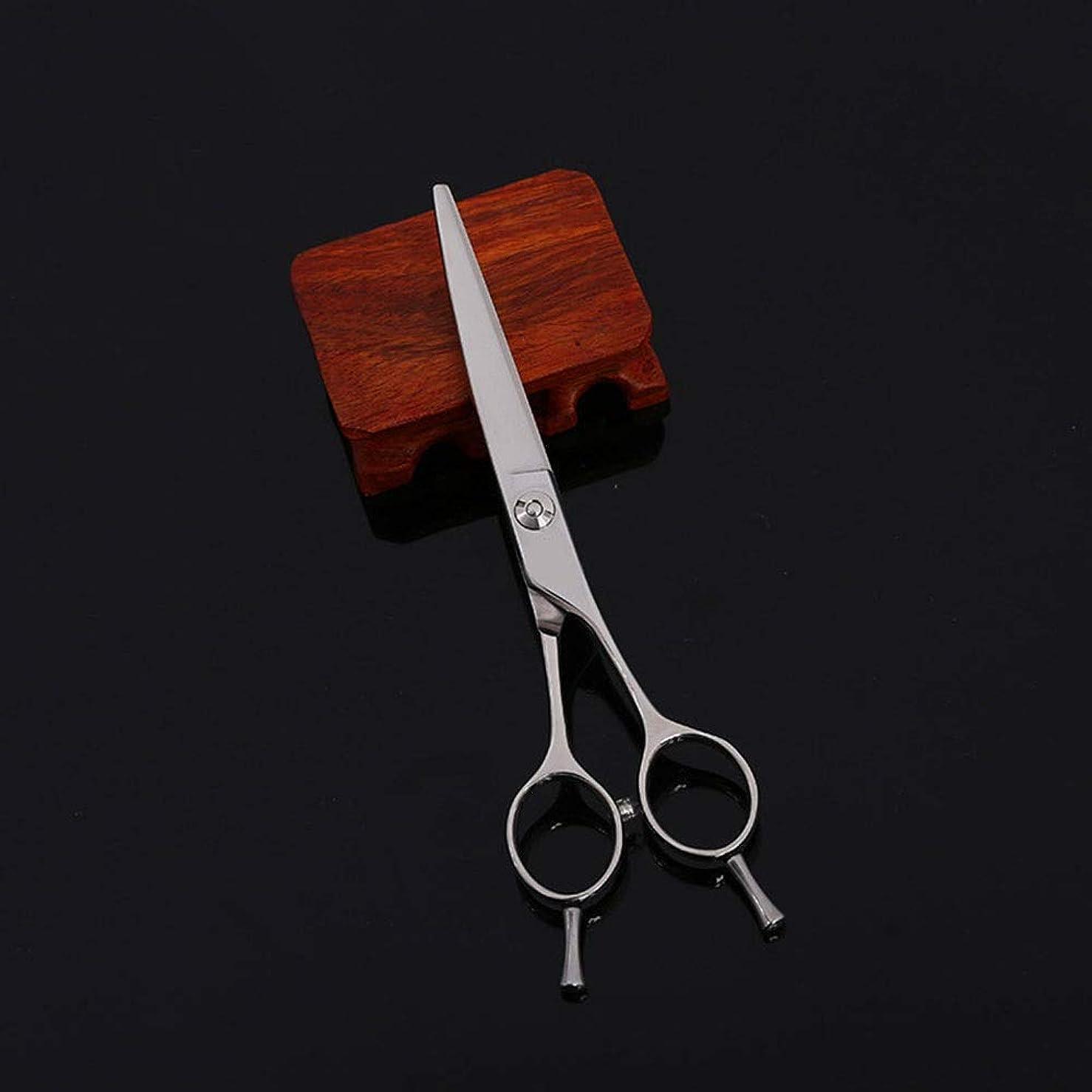 宙返り特許古い6インチ美容院プロフェッショナル散髪肘鋏、フラットシアーヘア ヘアケア (色 : Silver)