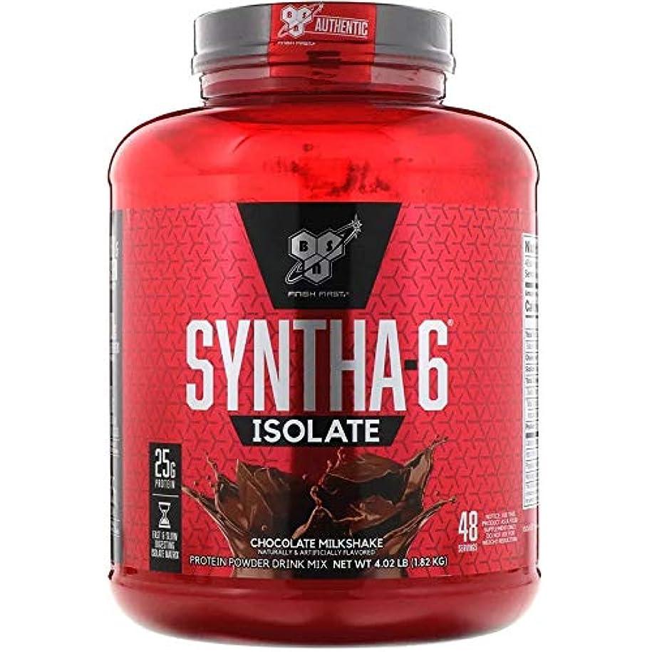 気がついてネスト再撮りBSN Syntha-6 Isolate Protein シンサ-6 アイソレート プロテイン (チョコレート, 4.02 lbs (1.82 kg)) [並行輸入品]