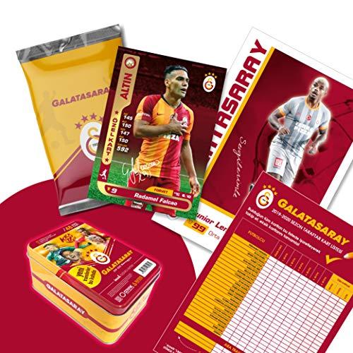 Galatasaray Istanbul Original lizenzierte 48 Spielerkarten Sammelkarten mit Orig. Unterschriften Fußballkarten Saison 2019/20 Fanartikel Set mit Geschenkbox GS