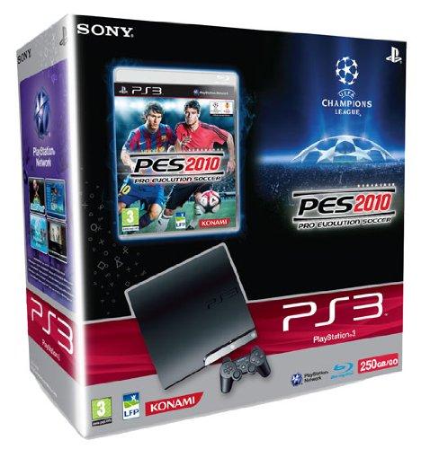 Console PS3 Slim 250 Go - noire + PES 2010 : Pro Evolution Soccer