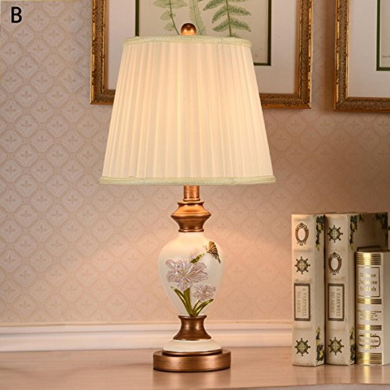 TOYM- American European Nachttischlampe Schlafzimmerlampe Wohnzimmer Studie kreative retro Hochzeit Tischlampe,220V (farbe   B) B01N4BXBXI   Günstige Preise