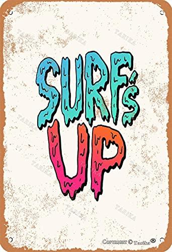 BIGYAK Letrero de pintura para decoración de pared de 20 x 30 cm, diseño vintage de Surf'S Up para decoración de hogar, cocina, baño, granja, jardín, garaje, citas inspiradoras