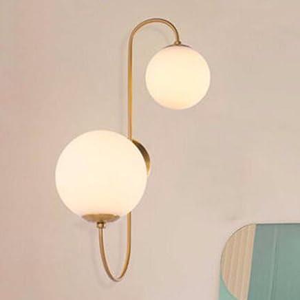 CJSHV-lámpara de paredModerna escalera pasillo dormitorio Nordic Living simplificado de faros,Blanco Apliques Lámparas de pared de brazo múltiple