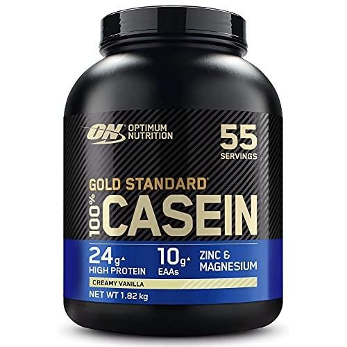 OPTIMUM NUTRITION ON Gold Standard Casein, Proteinas de Caseina en Polvo con BCAA Aminoacidos Esenciales, Zinc y Magnesio en Polvo,...
