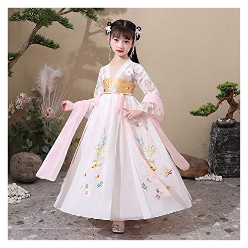 Ragazze Hanfu Stile Cinese Super Fata Gonna Bambini Costume Vestito Hanfu Fata Scorre Maniche Lunghe Abito Estivo (Colore: Stile G, Taglia : 120cm)