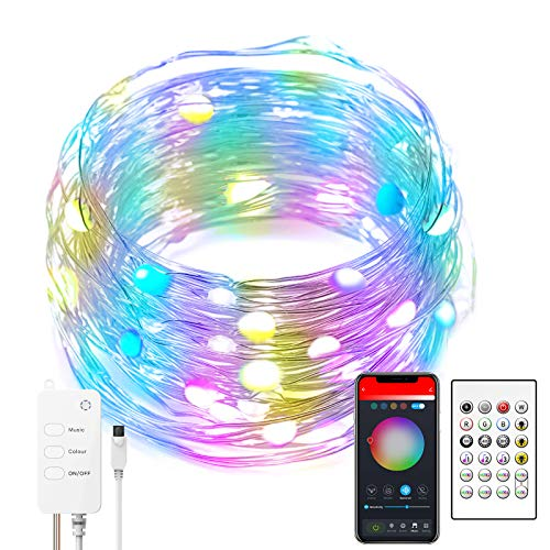 Alexa LED Strip Lights, Smart String Lights, WiFi & Bluetooth APP Control with Music Sync RGB Dancing for Christmas, Halloween, Party Decoration and Compatible with Alexa, Google Assistant (5M)
