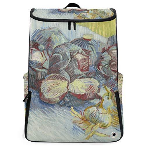 FANTAZIO Van Gogh Rode Kasten Laptop Outdoor Rugzak Reizen Wandelen Camping Rugzak Pack, Casual Grote College School Daypack