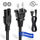 T POWER UL Listed 4FT 2 Prong Ac Lead Cable Cord Compatible with Haier Sony...