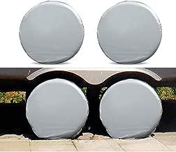 Set of 4 Tire Covers, Aluminum Film Tire Sun Protectors, Universal Fits 27