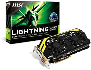 MSI NVIDIA GeForce GTX 680 2GB GDDR5 2DVI/HDMI/DispayPort PCI-Express Video Card (N680GTX LIGHTNING) by MSI [並行輸入品]