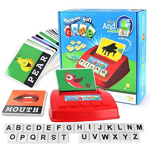 Alphabet Spiele für Kinder - Baby Englisch Alphabet-Karte Maschine Passende Brief Spiel, Rechtschreibung Spielzeug für 0-14 Alter Lernen