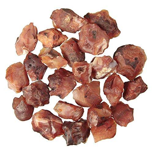 Naturosphère - Minéraux et fossiles C25 - Pierres brutes cornaline - 2 à 4 cm - 100 grammes