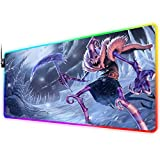 RGB Gaming Mouse Pad for Dark Candy fiddlesticks, LED Soft Extra Extended Large Mouse Pad,Anti-Slip Rubber Base,Computer Keyboard Mouse Mat 31.5 X 12 Inch