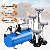 Best Air Horn Kits - 150DB Train Air Horn Kit, 4 Trumpet Train Review
