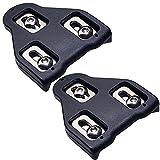 TFNYCT Tacos de Bicicleta – Pedales de Ciclismo autobloqueante – Juego de Tacos de Ciclismo para Interior y Bicicleta de Carretera, Compatible con Zapatos Shimano&Look(9 ° Float)(Negro)