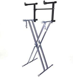 LHSY Adjustable Electronic Piano Keyboard Stand Piano Heightened Support Music Holder Instrument Black Holder Accessories ...