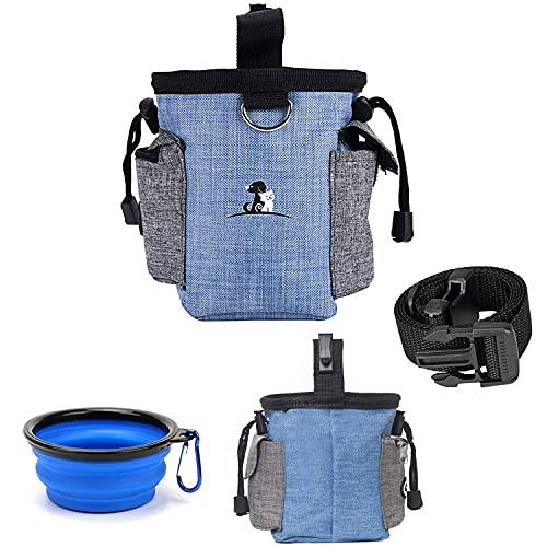 FiveFire Futterbeutel für Hunde,Hunde Leckerlie Tasche,Leckerlibeutel für Hunde,Wasserdicht Hunde Futtertasche Beutel und Reisenapf, für Hunde zur Hundetraining und Futteraufbewahrung
