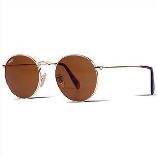 Dikleyクラシックの水晶ガラスレンズの六角/丸型/アビエーター ティアドロップメタルサングラス、メンズ レディースサングラス uv400カット男性女性高品質眼鏡 専用ケース付きsunglasses for women men
