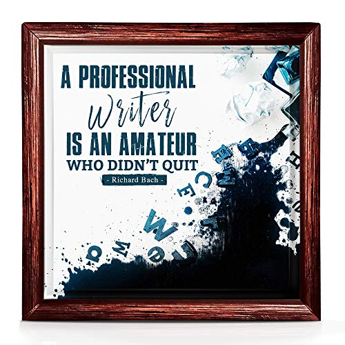 Writer Gifts | Unique 7x7 Tile Artwork Gifts for Writers | Meaningful Writer Gifts for Men and Women | Ideal Gifts for Authors | Gifts for Aspiring Writers | Themed Writers Decor