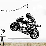 Motocicleta Conductor Etiqueta De La Pared Casco Moto Gp Ado