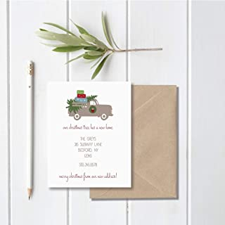 holiday cards announcing new address