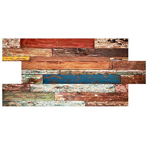 IZODEKOR Wandverkleidung Holz Styropor 2D Wandpaneele - Verblender Wanddeko Holz für Küche, Badezimmer, Balkon, Schlafzimmer, Wohnzimmer, Küchenrückwand und Teras   Torino Feuer
