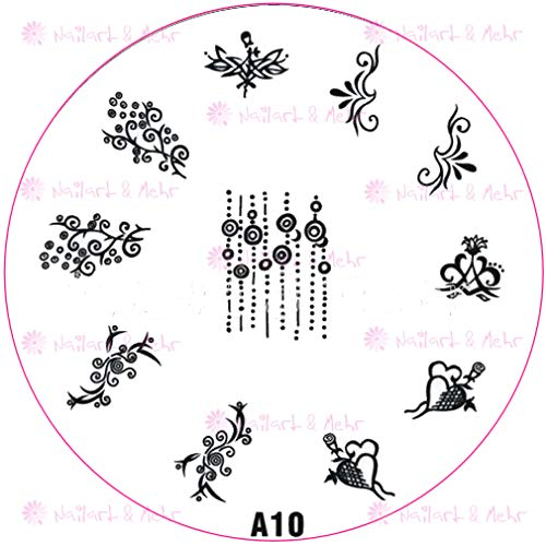 ++ speciale postallen + + stempelsjabloon A10 krullen hartje.
