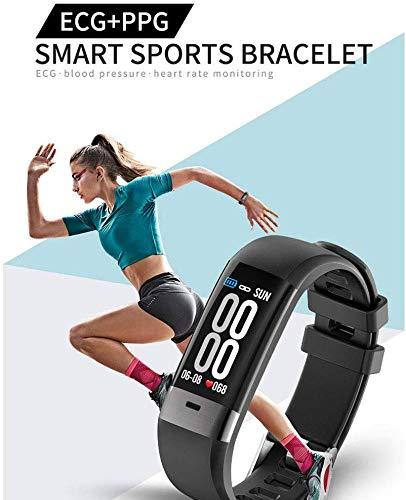 L.TSA Smart Watch0.96 OLED Bildschirm EKG Blutdruck Pulsmesser IP67 Armbanduhr Fitness Tracking Gerät Schrittzähler Reiten Sport BraceletBlack