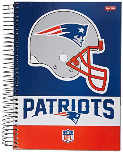 Caderno de 10 Matérias Capa Dura, Patriots, Jandaia, 65302, 28x24.5cm, 4 Unidades