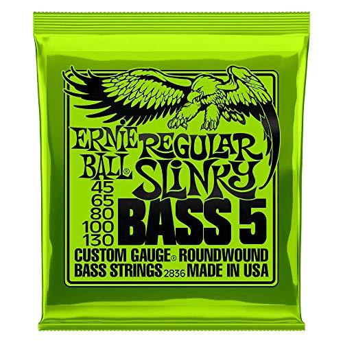 Ernie Ball Regular Slinky 5-Saiter Nickel Wound E-Bass Saiten - 45-130 Gauge
