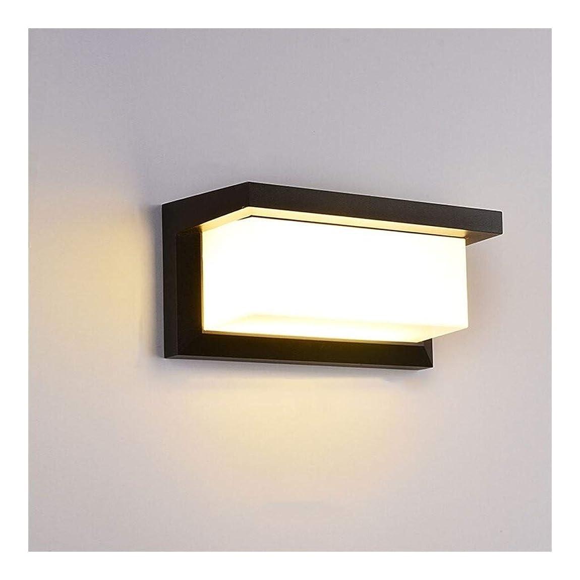 切り離すピクニック販売員壁ランプ屋外防水現代のミニマリストのコートヤードバルコニー階段廊下アイル照明ウォールライト (Color : Black, Size : 26*12*12cm)