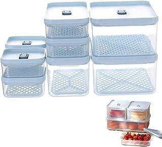 Haucy Lot de 8 Boite Conservation Alimentaire Plastique Réutilisables avec Couvercle, Boîte Alimentaire Adaptées Lave-Vais...