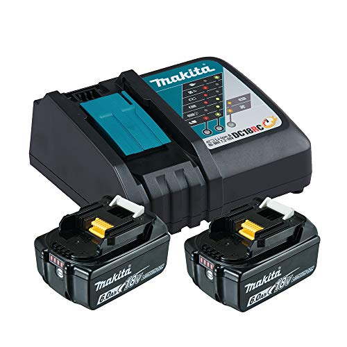 Makita Power Source Kit Li 18V mit 2x BL1860B Akku 6,0Ah + DC18RC Ladegerät (199480-6)