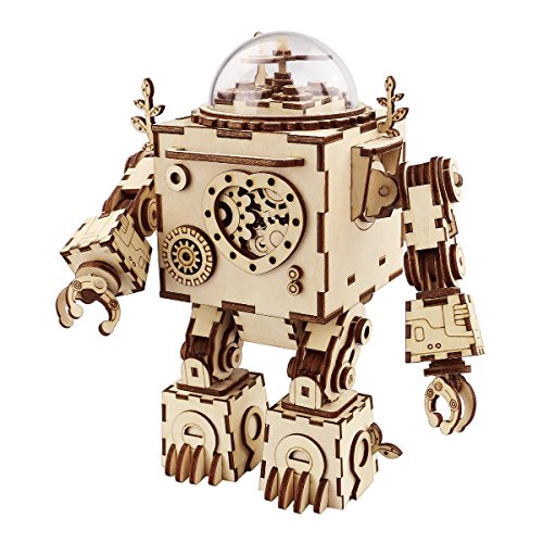 ROBOTIME 3D Puzzle Music Box Wooden...