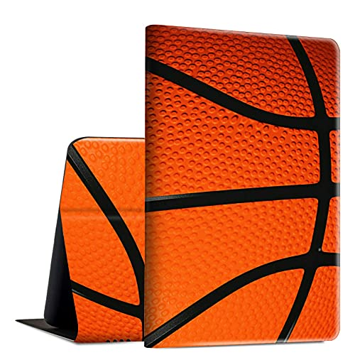 Rossy Funda para Amazon Fire HD 10 2021, Fire HD 10 Plus Tablet Case (11ª generación, 2021 lanzamiento), funda de piel sintética con función atril ajustable multiángulo, baloncesto