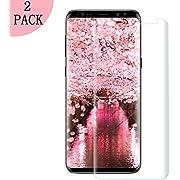 [2 Stück] Galaxy S9 Plus , Coverage HD Ultra Klar Abdeckung Gehärtetem Glas, HD Displayschutzfolie, Anti-Kratzer, 9H Härte,Klar Glatt, Anti-Fingerabdruck, Blasenfreie - Kompatibel Samsung Galaxy S9 Plus