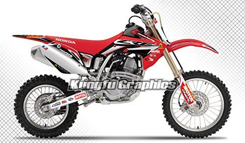 Kungfu Graphics Custom Decal Kit for Honda CRF150R 2007 2008 2009 2010 2012 2013 2014 2015 2016 2017 2018 2019 2020, Red Black White