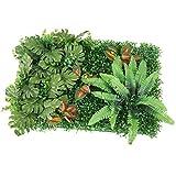 F Fityle Césped Artificial Plantas Verdes Hierbas de Imitación Plástico Decoración para Sala de Estar Balcón - Verde B