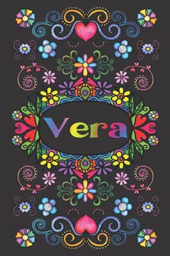REGALO PERSONALIZADO PARA VERA: Hermoso Diario Forrado Con El Nombre De Vera