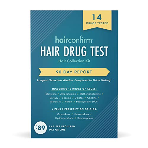 HairConfirm 14 Panel Hair Drug Test Collection Kit Only, 90 Days Detection Additional Lab Fee...